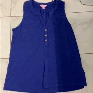 Lilly Pulitzer Essie Top bomber blue S